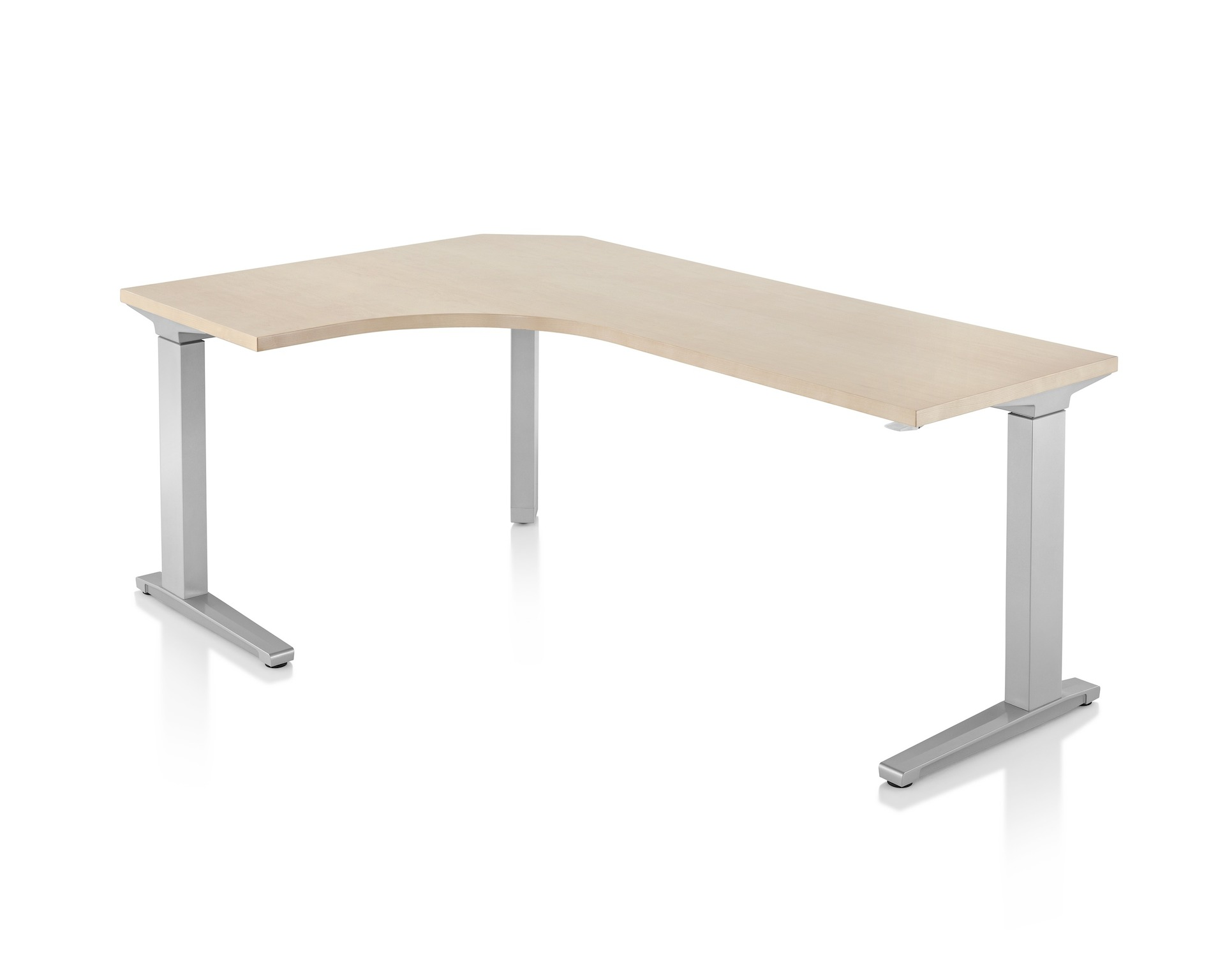 Renew Sit To Stand 90 Degree Extended Corner Table, C Foot