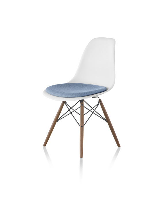 Eames Molded Plastic Chair Upholstered, Eames Side Chair Pad