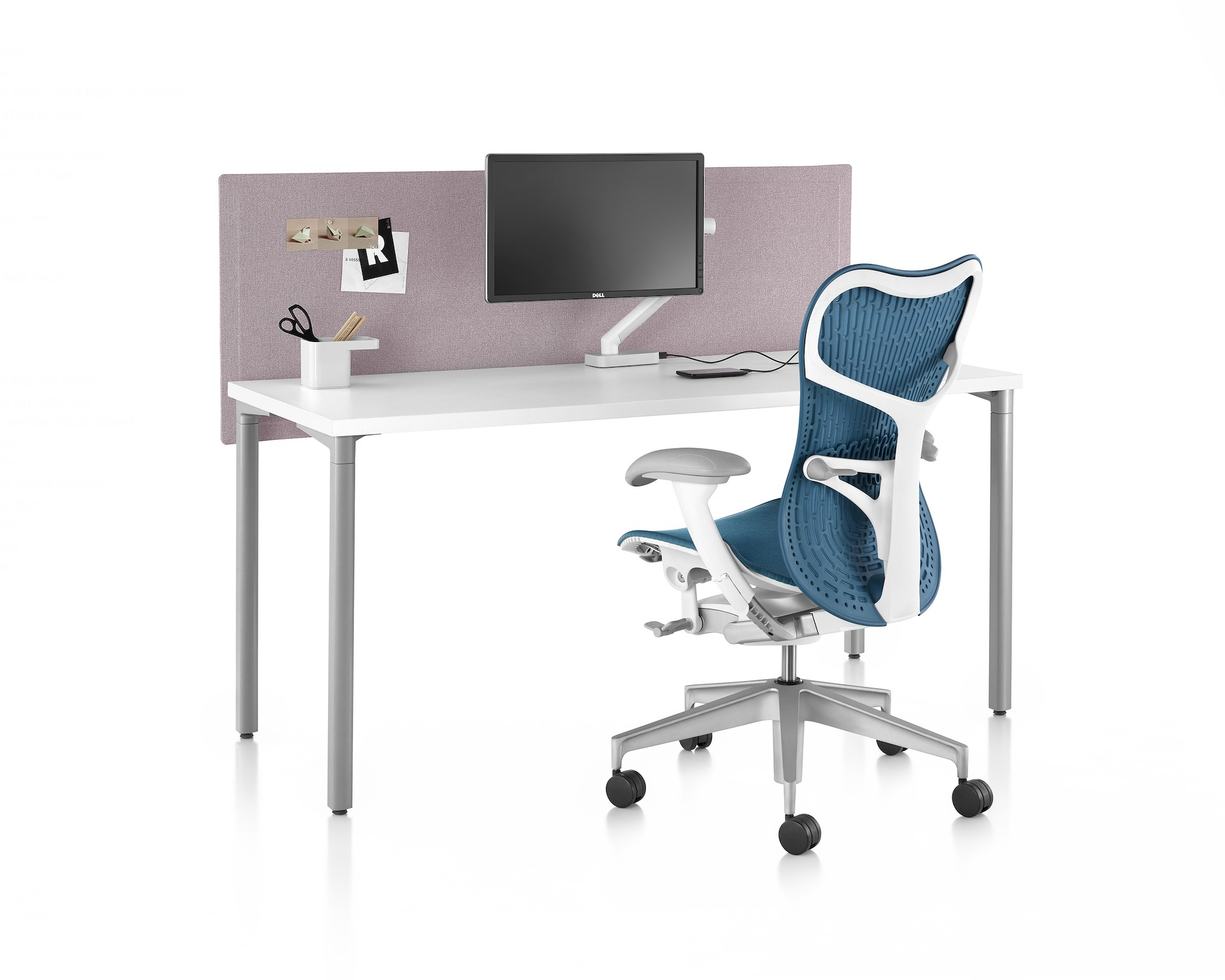 Everywhere Table With Pari Screen Contact A Dealer Herman Miller