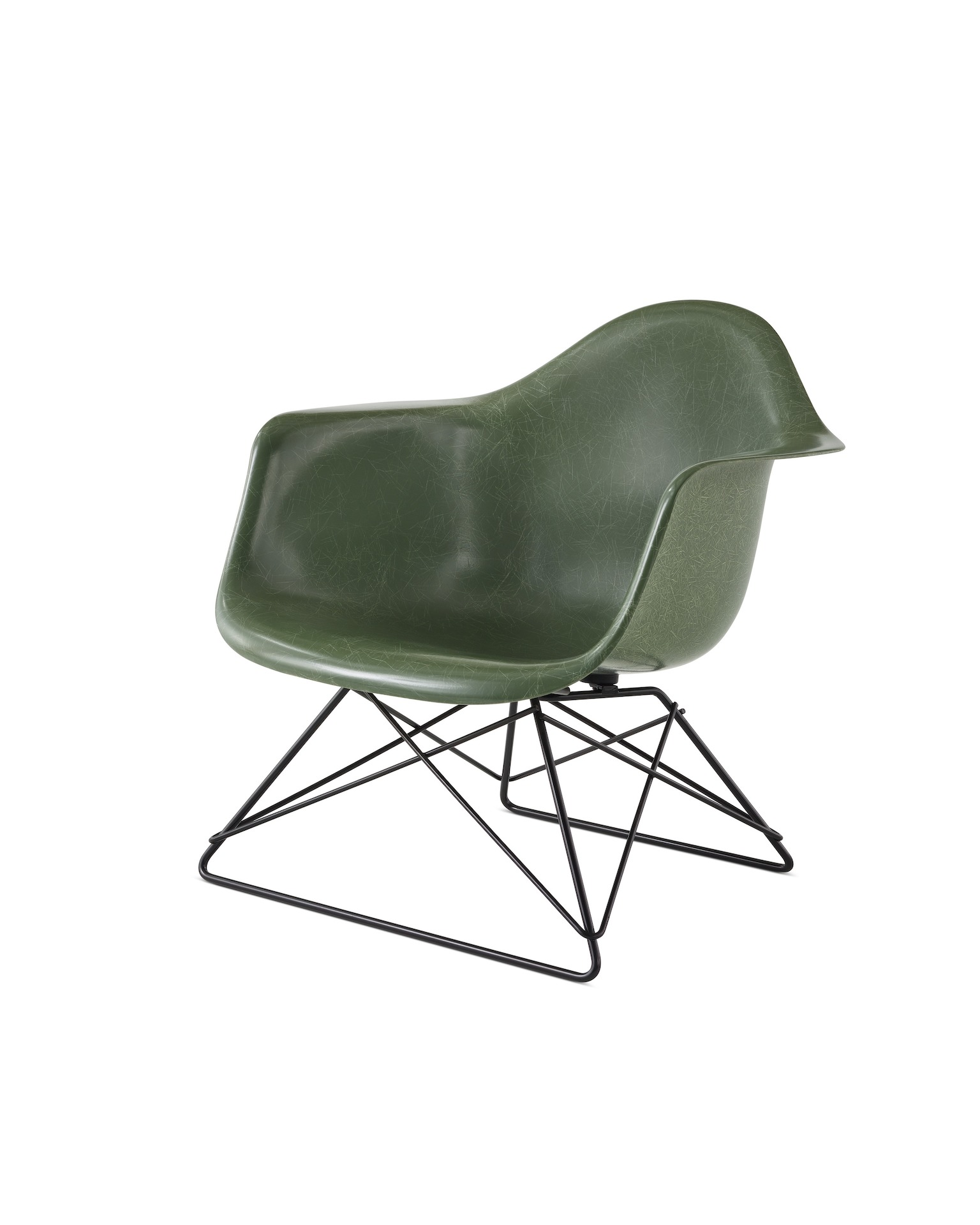 Eames Molded Fiberglass Armchair, Low Wire Base - Herman ...