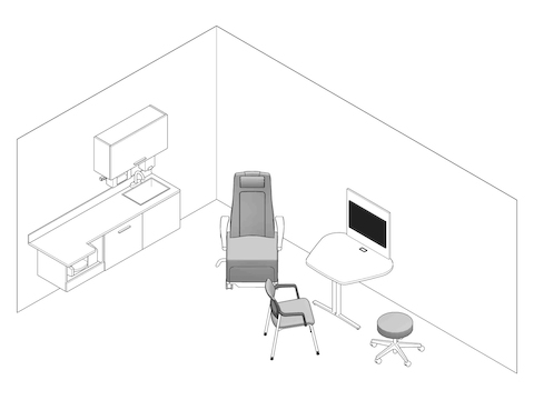 A line drawing - Exam Room 001