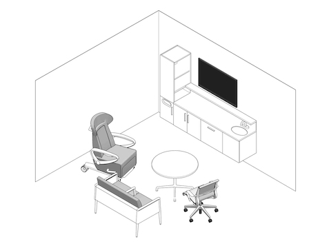 A line drawing - Exam Room 002