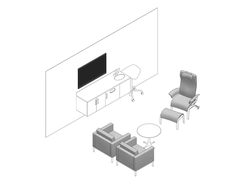 A line drawing - Exam Room 003