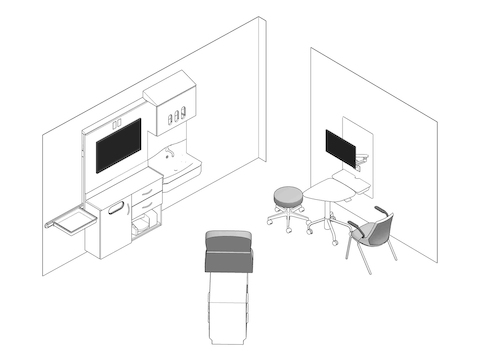 A line drawing - Exam Room 006