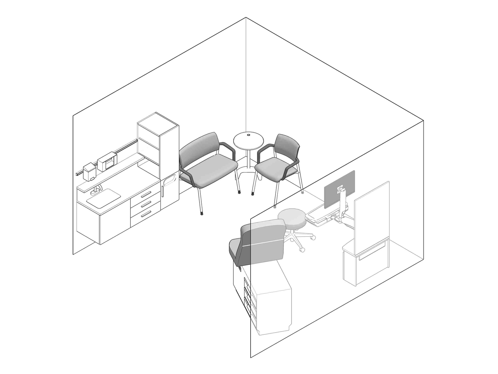 A line drawing - Exam Room 007