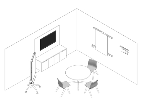A line drawing - Exam Room 008