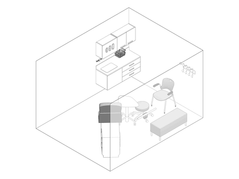 A line drawing - Exam Room 009
