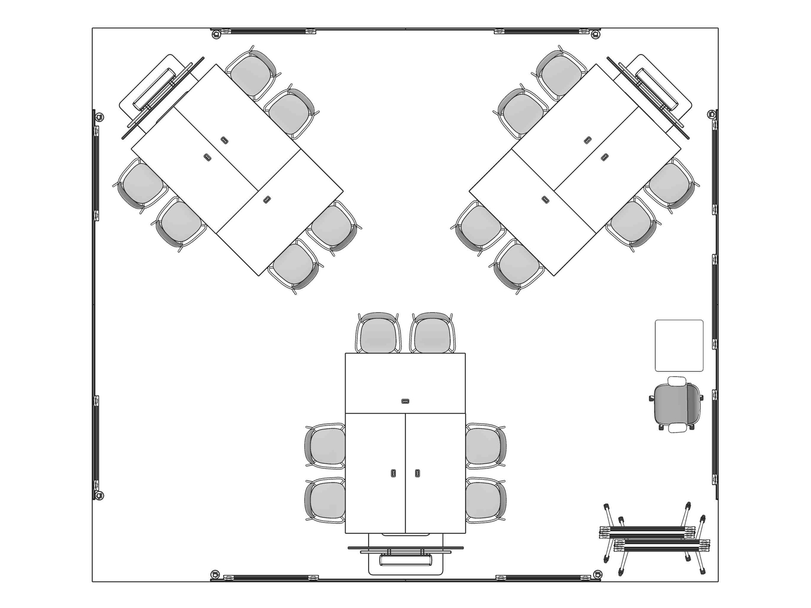 A line drawing viewed from above - Forum 019