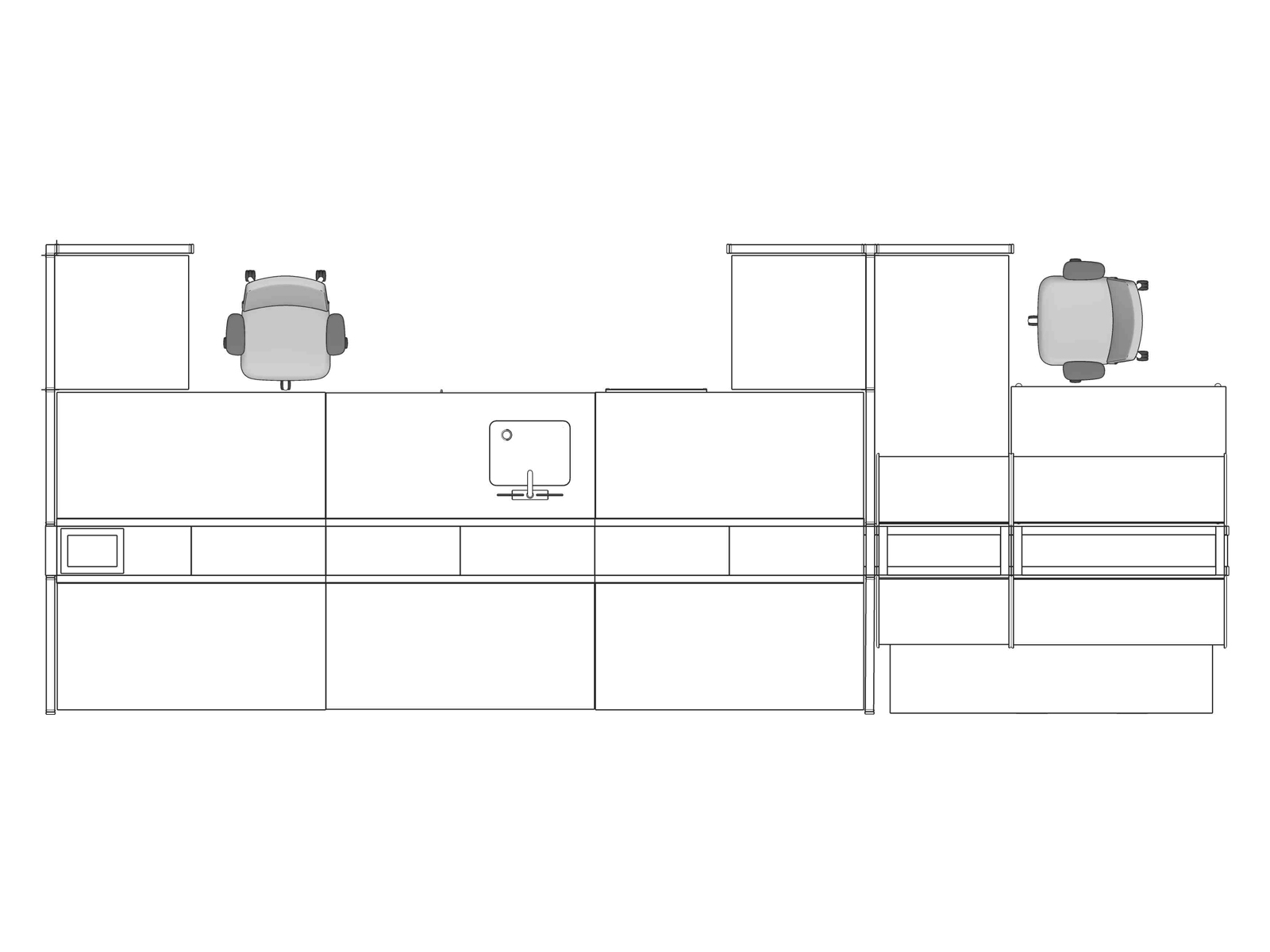 A line drawing viewed from above - Laboratory 003