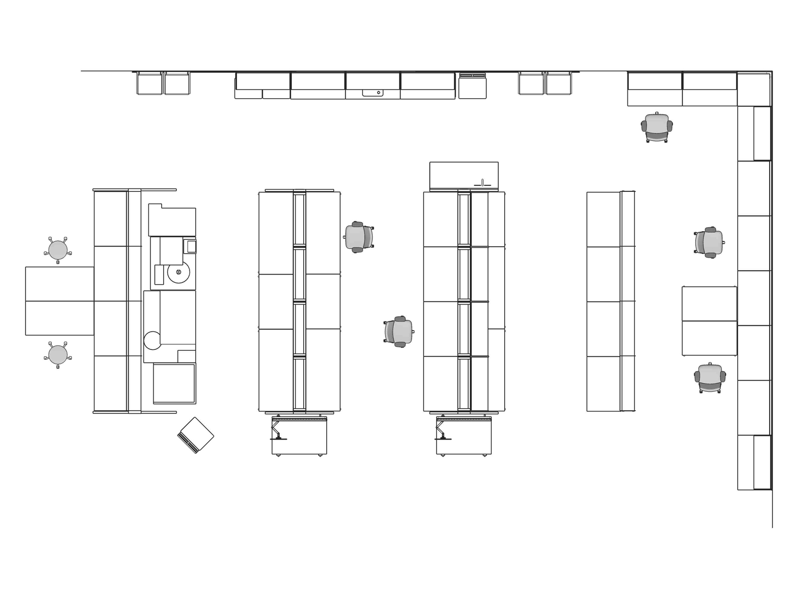 A line drawing viewed from above - Laboratory 008