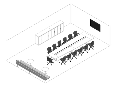 A line drawing - Meeting Space 002