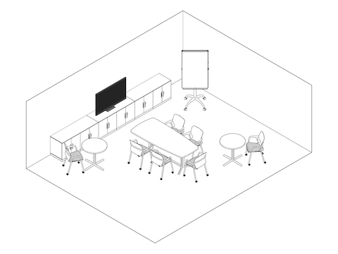 A line drawing - Meeting Space 004