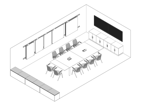 A line drawing - Meeting Space 008
