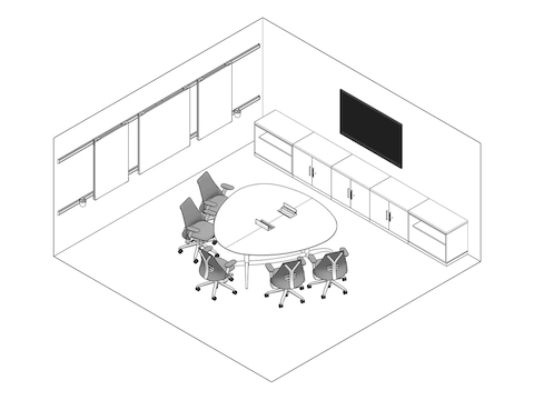 A line drawing - Meeting Space 009