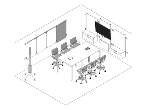 A line drawing - Meeting Space 013