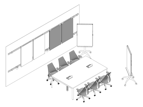 A line drawing - Meeting Space 017