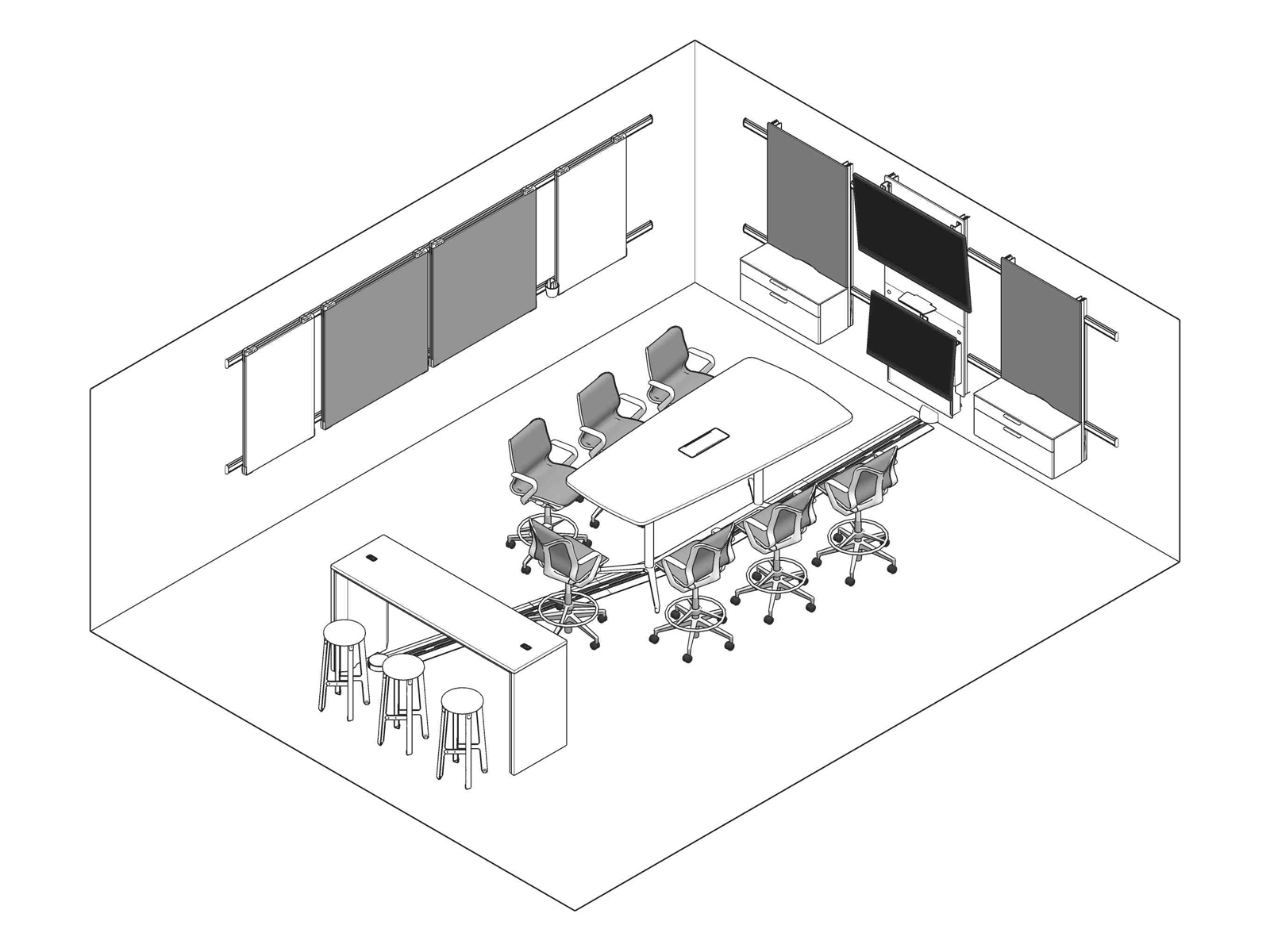 A line drawing - Meeting Space 021