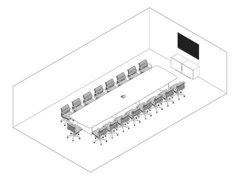 A line drawing - Meeting Space 023