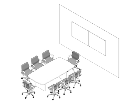 A line drawing - Meeting Space 026