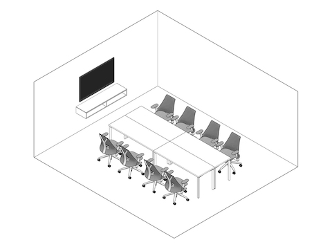 A line drawing - Meeting Space 027