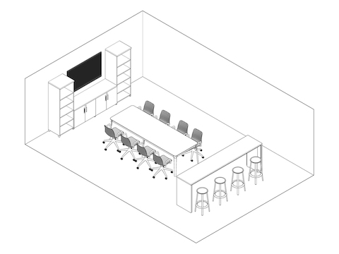 A line drawing - Meeting Space 036