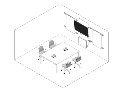 A line drawing - Meeting Space 039