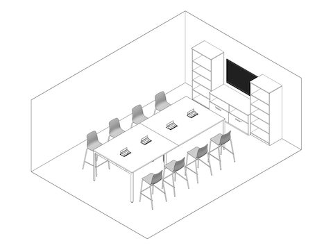 A line drawing - Meeting Space 040