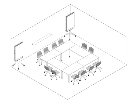 A line drawing - Meeting Space 043