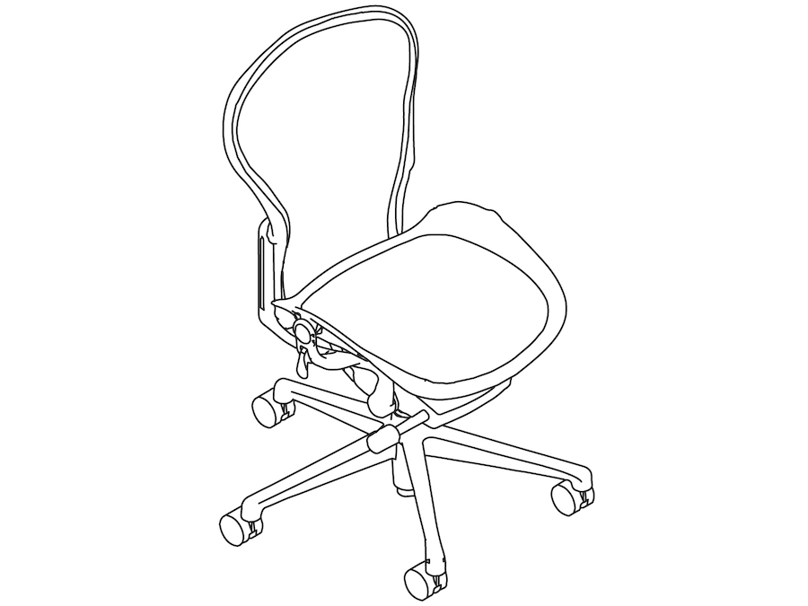 A line drawing - Aeron Chair–A Size–Armless