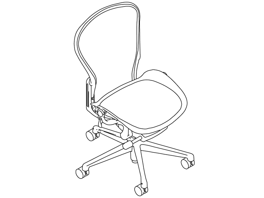A line drawing - Aeron Chair–B Size–Armless