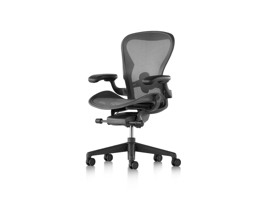 A photo - Aeron Chair–B Size–Fixed Arms