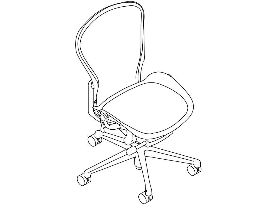 A line drawing - Aeron Chair–C Size–Armless