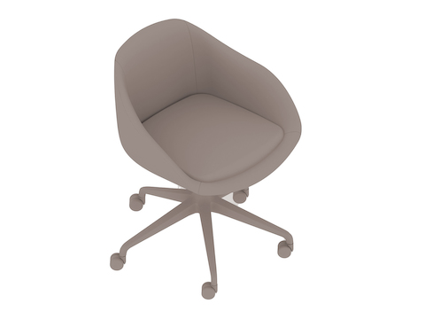 A generic rendering - Always Chair–5-Star Caster Base