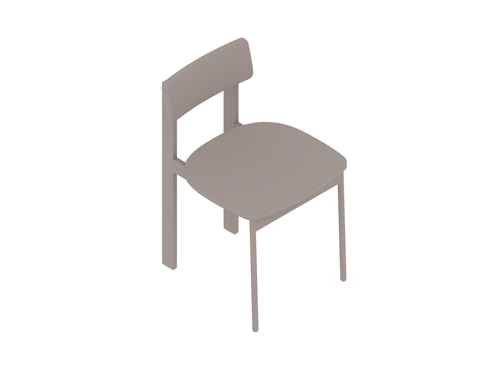 A generic rendering - Betwixt Chair–Armless–Wood