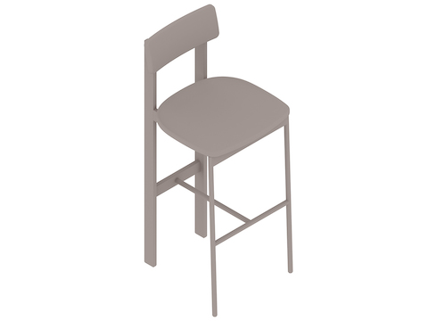 A generic rendering - Betwixt Stool–Bar Height–Upholstered