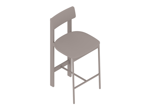 A generic rendering - Betwixt Stool–Counter Height–Upholstered