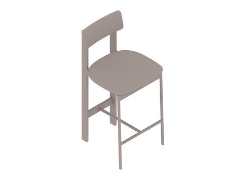 A generic rendering - Betwixt Stool–Counter Height–Wood