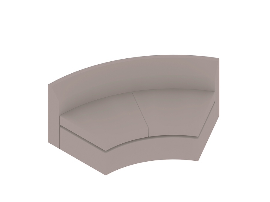 A generic rendering - Bevel Curved Settee–Inside Curve
