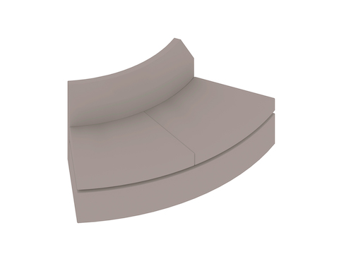A generic rendering - Bevel Curved Settee–Outside Curve