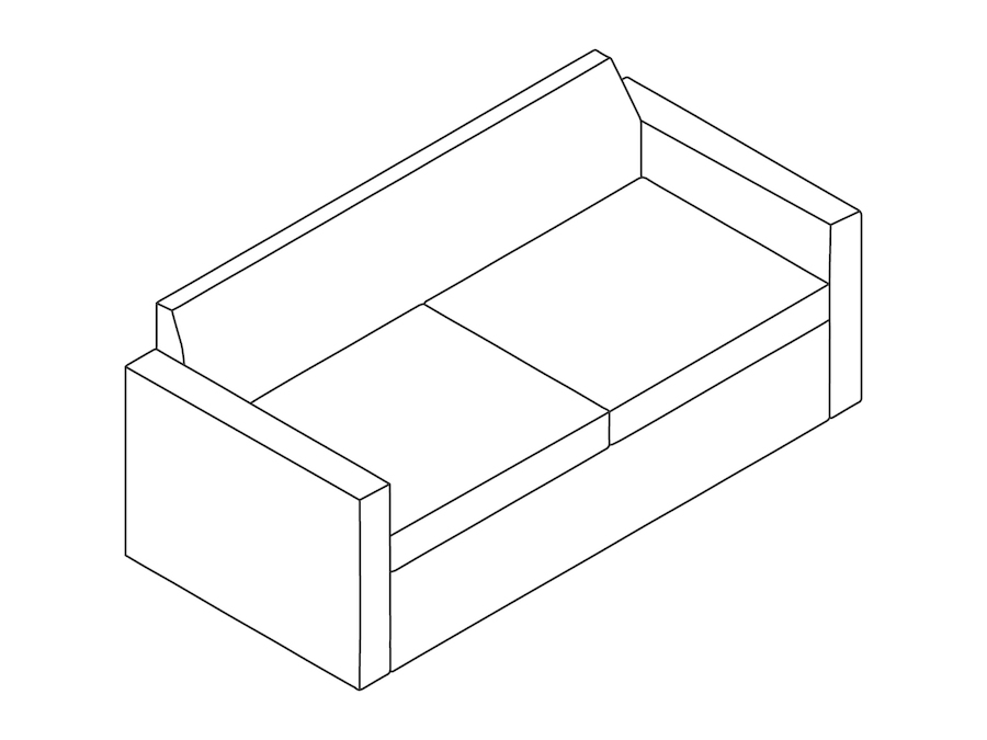 A line drawing - Bevel Settee