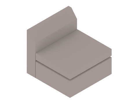 A generic rendering - Bevel Single Seat