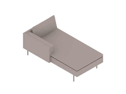 A generic rendering - Bolster Chaise