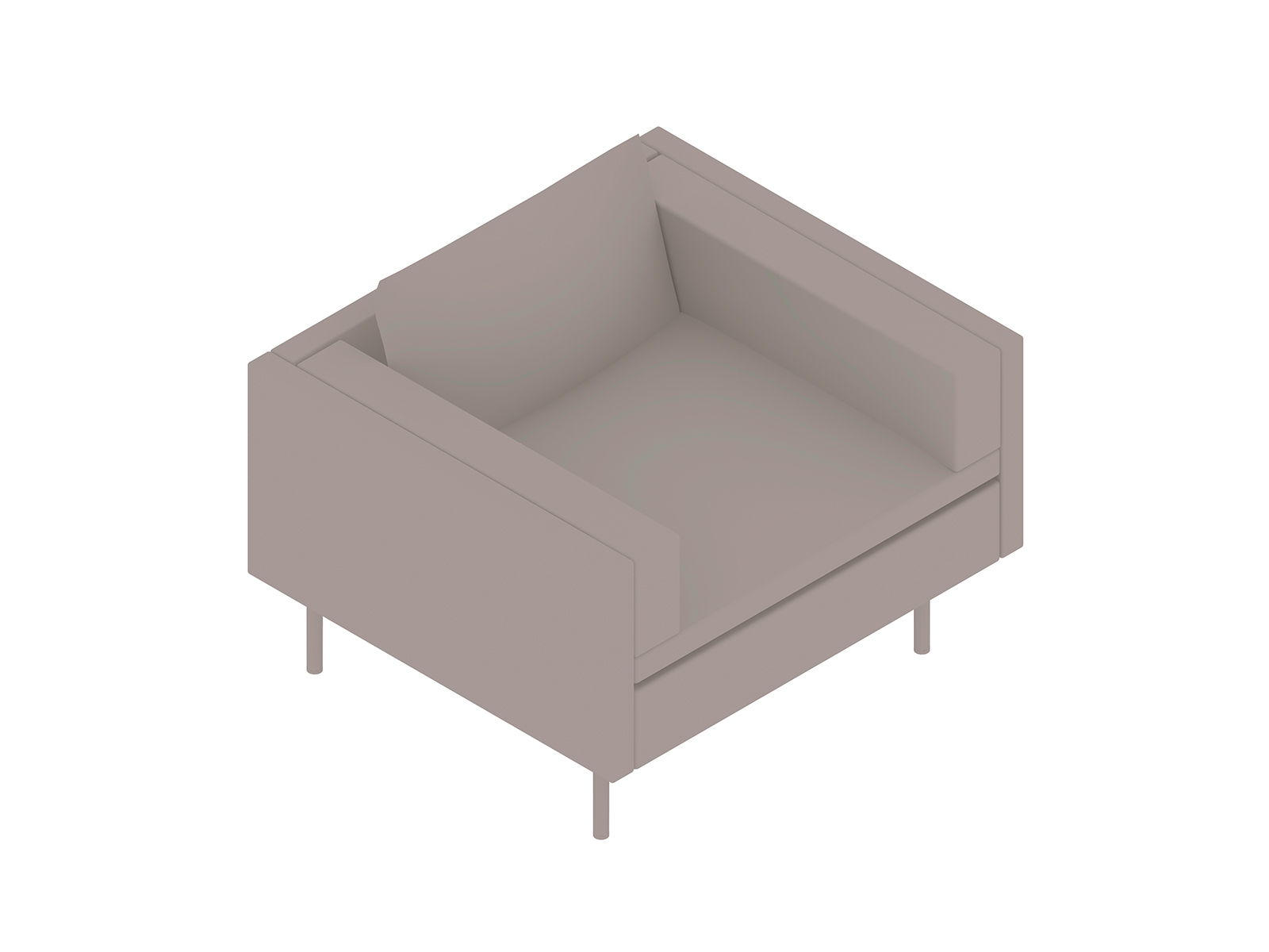 A generic rendering - Bolster Club Chair