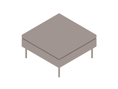 A generic rendering - Bolster Ottoman