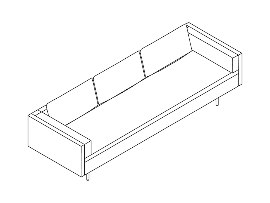 A line drawing - Bolster Sofa
