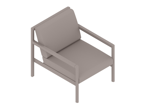 A generic rendering - Brabo Lounge Chair