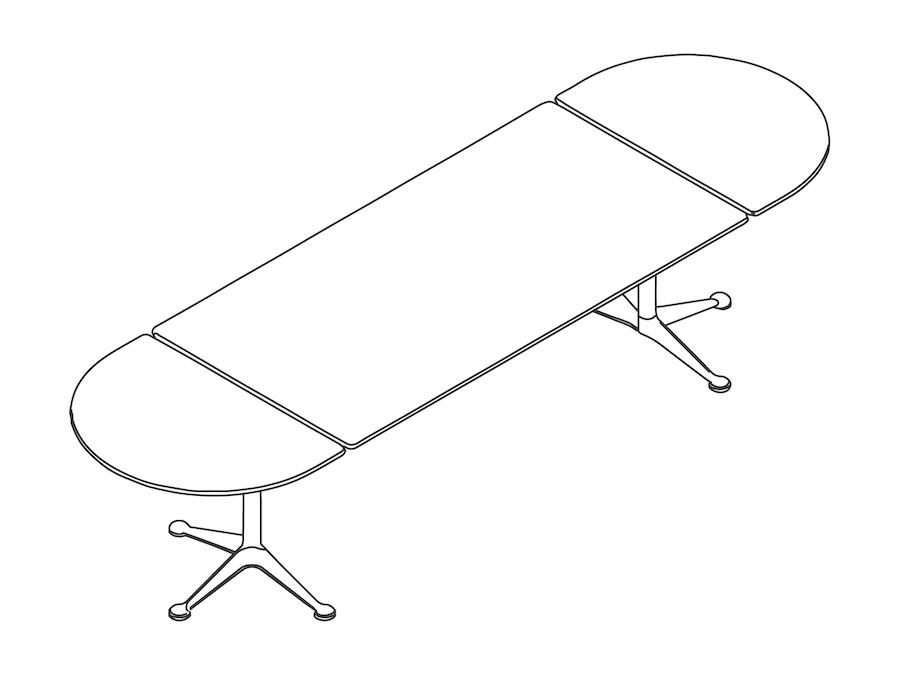 A line drawing - Burdick Group Table–Oval