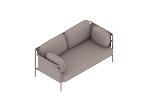 A generic rendering - Can Sofa–2 Seat