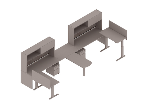 A generic rendering - Canvas Metal Desk