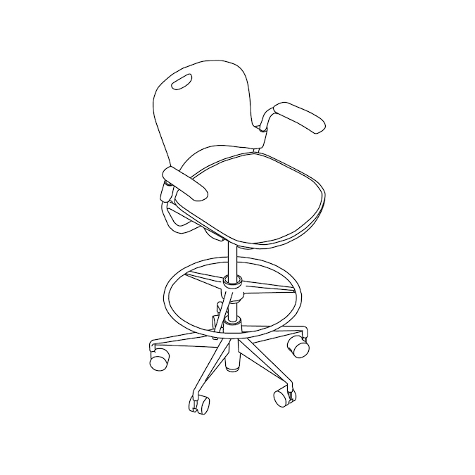A line drawing - Caper Multipurpose Stool